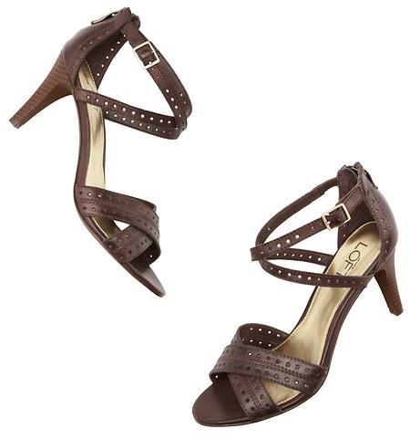 LOFT Ivette Leather Mid Heel Sandals