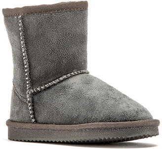 Lamo Casual boots Grey - Gray Faux Fur-Lined Boot - Kids