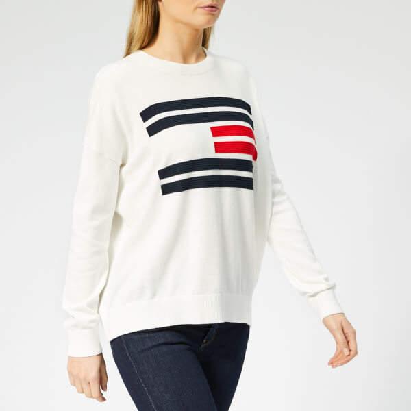 47970139 Tommy Hilfiger White Knitwear For Women - ShopStyle Australia