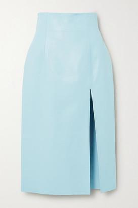 16Arlington Fonda Leather Pencil Skirt - Sky blue