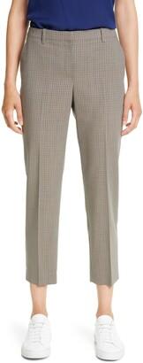 Theory Treeca 4 Plaid Wool Crop Pants