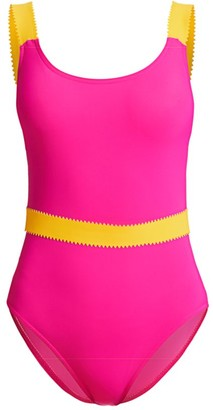 Karla Colletto Swim Giselle Belted One-Piece Swimsuit