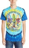 Liquid Blue Men's Grateful Dead-Beach Bear Bingo T-Shirt