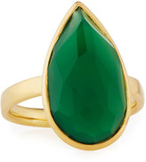 Ippolita Rock Candy® 18k Green Agate Teardrop Ring, Size 7