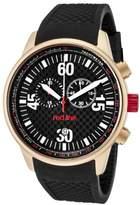 Redline Red Line RL - 10102-Men's Watch Quartz Chronograph Black Rubber Strap