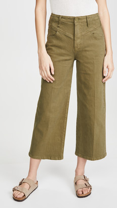 Frame Ali Wide Crop Retro V Yoke Jeans
