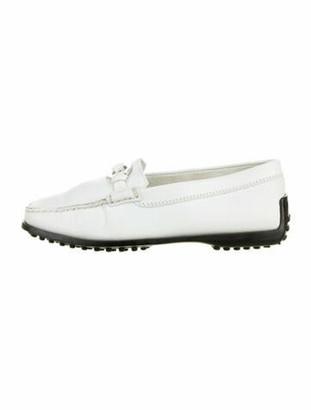 Tod's Leather Loafers White