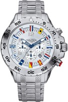 Nautica Men's Stainless Steel Flag ChronographWatch
