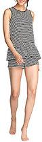 Kate Spade Striped Jersey Peplum Pajamas