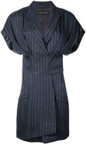 Alexandre Vauthier pinstripe dress - women - Linen/Flax/Lurex/Viscose - 36