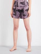 AIMEE Striped jacquard silk-blend pyjama shorts