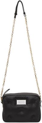 Maison Margiela Black Leather Mini Glam Slam Messenger Bag