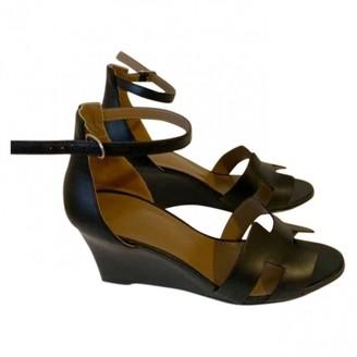 Hermes Legend Black Leather Sandals