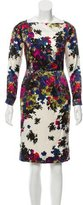 Erdem Floral Print Long Sleeve Dress