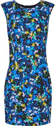 Milly Printed Stretch-cady Mini Dress