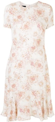 Escada Floral Shift Midi Silk Dress