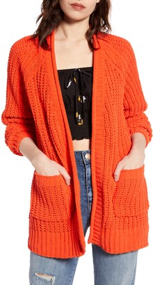 Billabong Warm Up Open Front Novelty Knit Cardigan