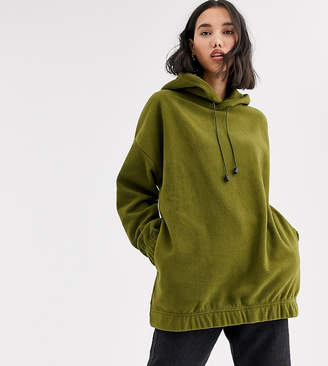 NATIVE YOUTH exclusive oversized hoodie in fleece-Green