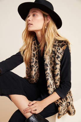 Velvet by Graham & Spencer Stephie Leopard Faux Fur Vest