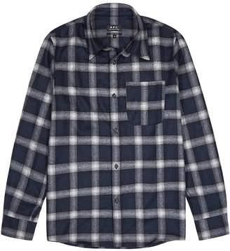 A.P.C. Trek Checked Wool-blend Shirt