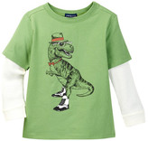 Andy & Evan Green Hip Dino Two-Fer Tee (Toddler & Little Boys)