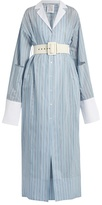 Rosie Assoulin Schloppy Joe belted cotton and silk-blend dress