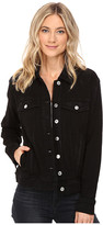 7 For All Mankind Denim Jacket w/ Shadow Pockets in Black Shadow Broken Twill 3