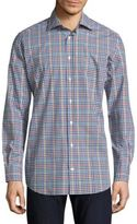 Luciano Barbera Gingham Casual Button-Down Shirt