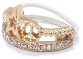 Rachel Roy Star and Peace Sign Stackable Ring