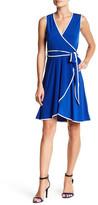 Calvin Klein Faux Wrap Dress (Petite)