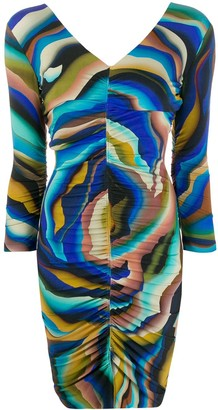 Roberto Cavalli Sistine Chapel print dress
