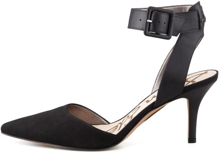 Sam Edelman Okala Suede-Leather Ankle-Wrap Sandal
