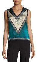 Versace Wool & Silk Shell Top