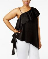 Soprano Trendy Plus Size One-Shoulder Top