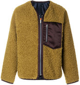 Santoni textured bomber jacket