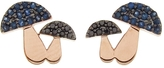 Sydney Evan Diamond and Sapphire Mushroom Stud Earrings
