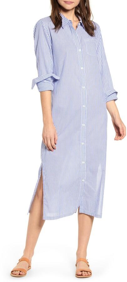 49f72e90778 Stripe Maxi Shirtdress