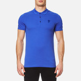 Versace Collection Pique Polo Shirt Blue