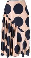 Stella McCartney large polka dot print skirt