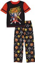 Komar Kids Power Rangers Black & Red Pajama Set - Boys