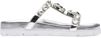 Miu Miu T-bar crystal-embellished sandals