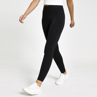 River Island Womens Black elastic waist skinny leggings