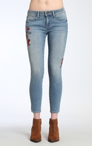 Mavi Jeans Adriana Ankle Super Skinny In Mid Flower Embroide
