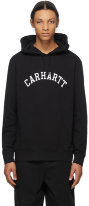 Carhartt Work In Progress Black University Hoodie