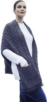 Carraigdonn Carraig Donn Ladies Merino Wool Irish Wrap with Pocket