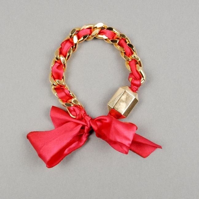 Rachel Leigh Chain Ribbon Bracelet