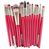 Susenstone 15pcs Makeup Brush Set ,tools, Make-up Toiletry Kit (Red)