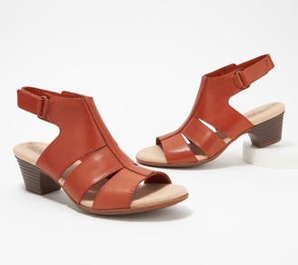 Clarks Collection Leather Heeled Sandals - Valarie Dalia