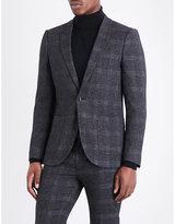 Topman Topman Olympus Check Skinny-fit Woven Jacket