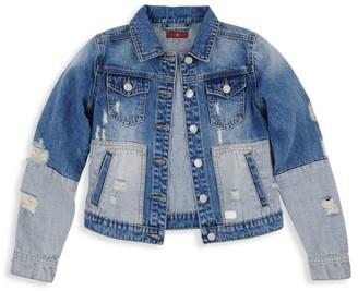 7 For All Mankind Girl's Patchwork Denim Jacket